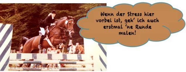 Bild zum Hörtext: Das malende Pferd