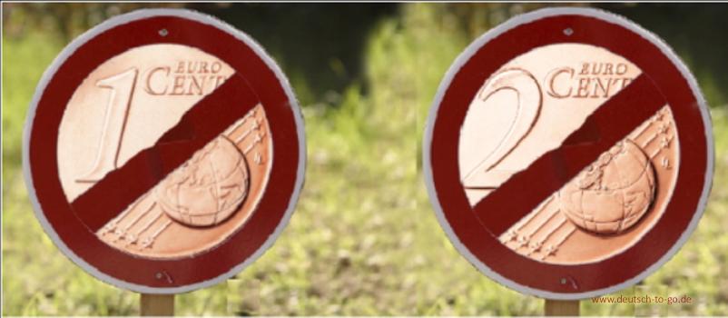 Ein Und Zwei Cent Münzen Deutsch To Gode